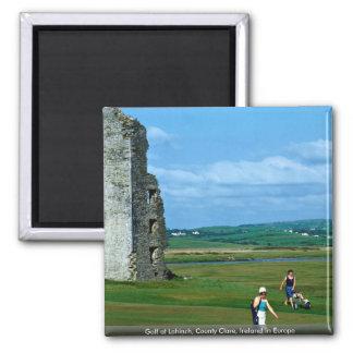 Golf en Lahinch, condado Clare, Irlanda en Europa Imán Cuadrado