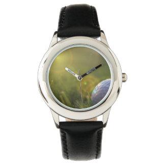 Golf en un día soleado relojes de pulsera
