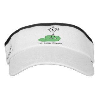 Golf equals exercise plus swearing visor