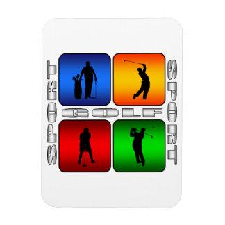 Golf espectacular imanes rectangulares