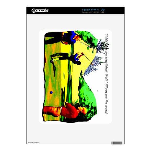 Golf - espera para el verde calcomanías para el iPad