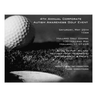 Golf Event Party Invitations