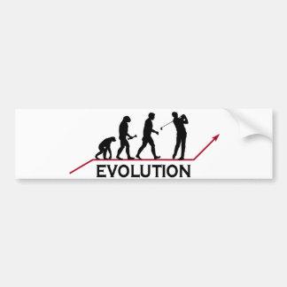 Golf Evolution Bumper Sticker