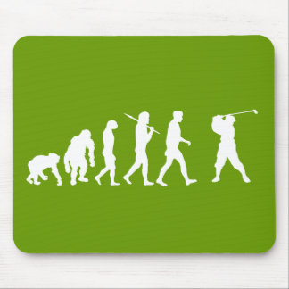 Golf Evolution golfers golfing club house gift Mouse Pad