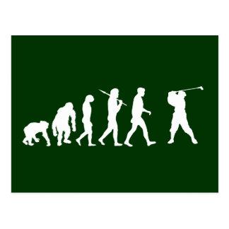 Golf Evolution golfers golfing club house gift Postcard