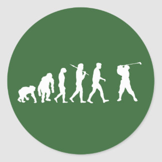 Golf Evolution golfers golfing club house gift Stickers
