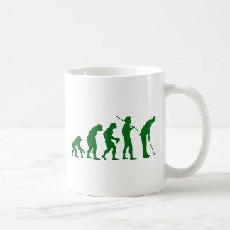 Golf Evolution Classic White Coffee Mug