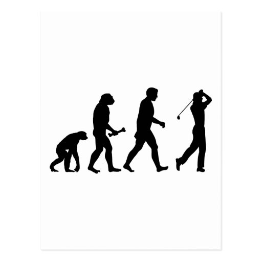 Golf Evolution Postcard