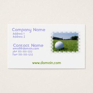 Golf Fairway Business Card
