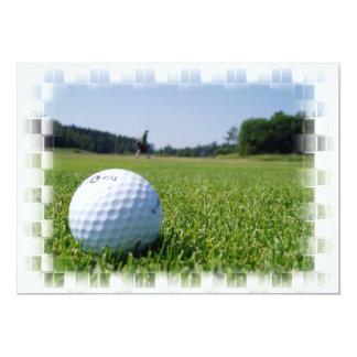 Golf Fairway Inviation Card