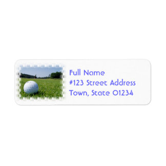 Golf Fairway Mailing Label