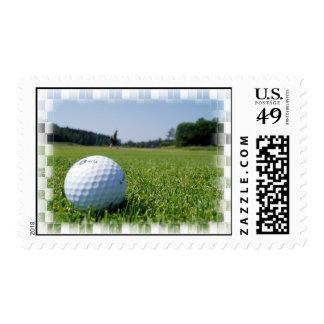 Golf Fairway Postage Stamp