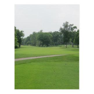 Golf Fairway Print Postcard