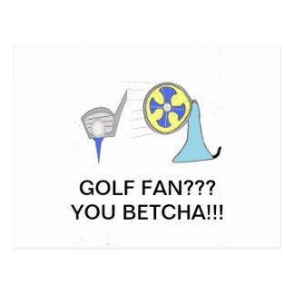 golf fan products postcard