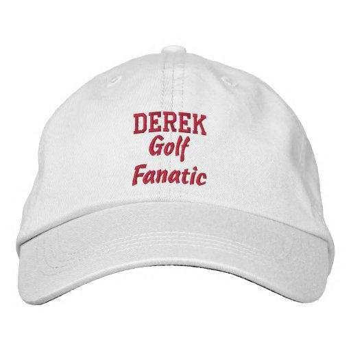 Golf Fanatic Custom Name Embroidered Baseball Caps