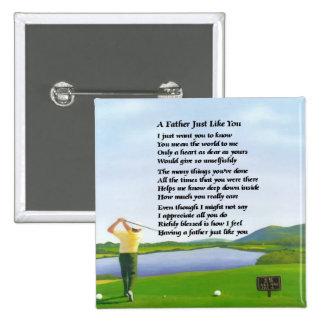 Golf - Father Poem Pins