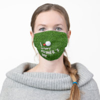 Golf father's day cloth face mask