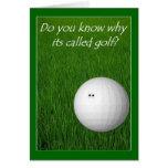 Golf Felicitación