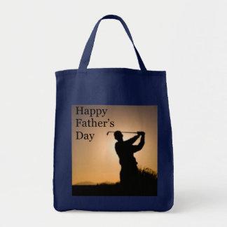 Golf feliz del día de padres bolsa tela para la compra