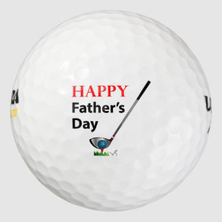 Golf feliz del día de padres fresco pack de pelotas de golf