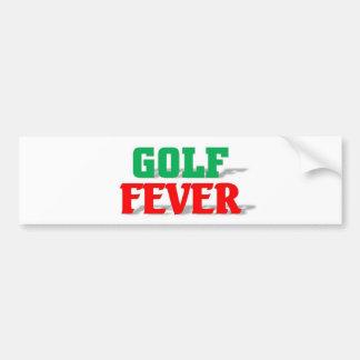 Golf Fever Bumper Sticker