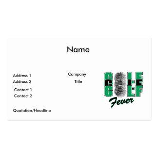 golf fever business card templates