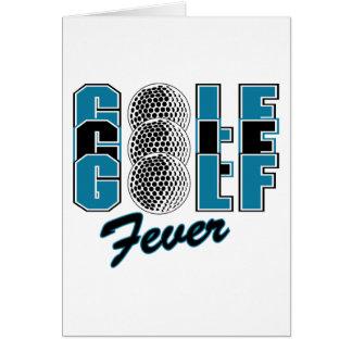 Golf Fever Greeting Cards