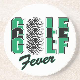 golf fever drink coaster