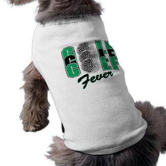 Golf Fever Dog Tee Shirt