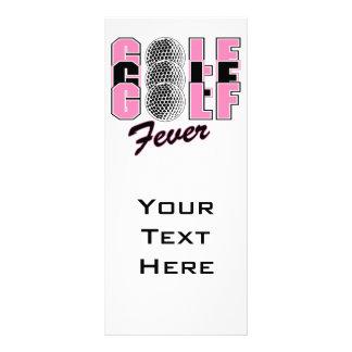 golf fever pink customized rack card