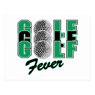 golf fever postcard