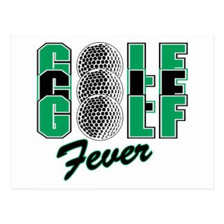 Golf Fever Postcard