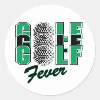 Golf Fever Round Sticker