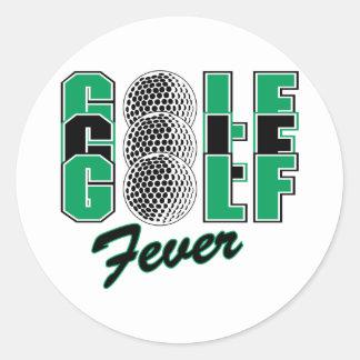 golf fever sticker