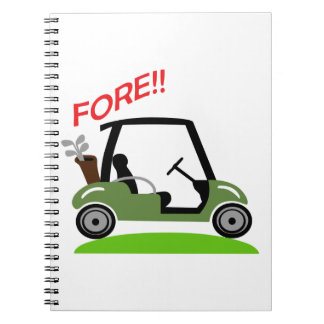 Golf Fore Notebook
