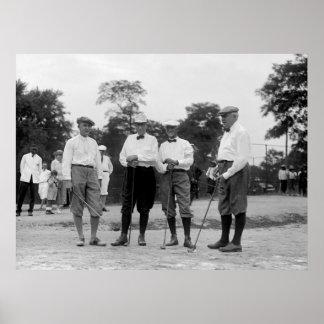 Golf Foresome, los años 20 de Harding Póster