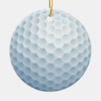 Golf Fun Sports Game Christmas Holidays Ceramic Ornament