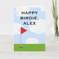golf funny b-day card