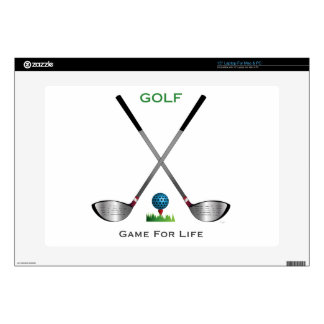 """GOLF - Game for Life Decals For 15"""" Laptops"""