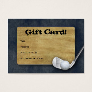Golf Gift Card - Father's Day Blue Denim