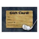 Golf Gift Card - Father's Day Blue Denim Large Business Cards (Pack Of 100)