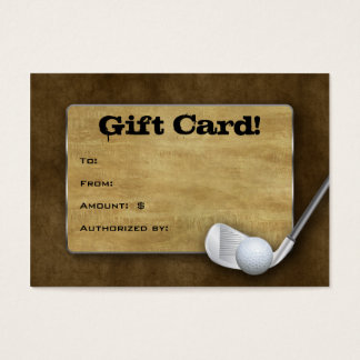 Golf Gift Card - Father's Day Brown