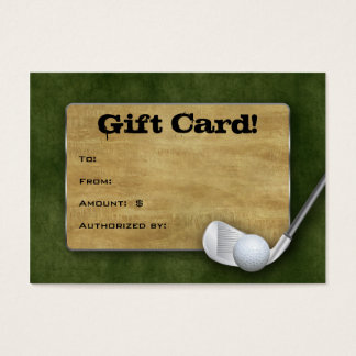 Golf Gift Card - Father's Day Green