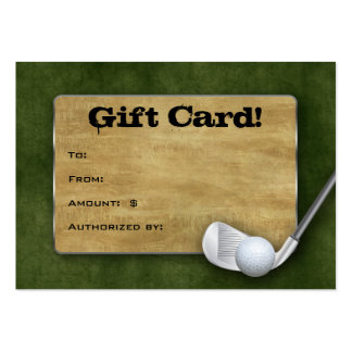 Golf Gift Card - Father's Day Green Business Cards