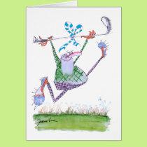golf gift, tony fernandes card