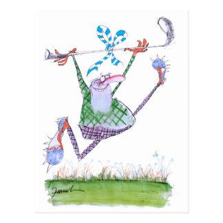 golf gift, tony fernandes postcard