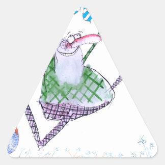 golf gift, tony fernandes triangle sticker