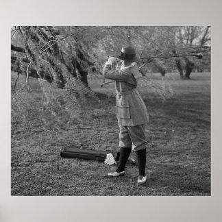 Golf Gifts- Lady Leonora Preps Swing Print