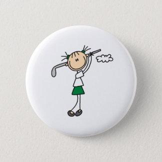 Golf Girl Button