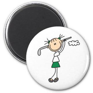 Golf Girl Magnet Refrigerator Magnets